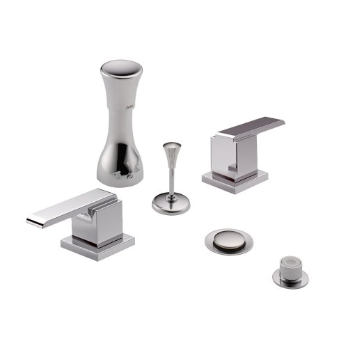 Delta Bathroom Faucets Bidet - Delta Delta KBDAR-D-44-H267-CH Classic Bidet Fitting Kit Deck-Mounted Vertical Spray with Addison Metal Lever Handles, Chrome Chrome