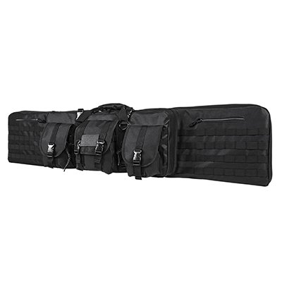 Double Carbine/Rifle/Shotgun Case By NcStar/Vism (Black, 55)