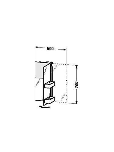 Duravit Spiegelschrank Starck 135x600x700mm 1 Spiegeltür rechts, TA mittig, S19720R0000