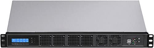 12.60 Deep PLINKUSA RACKBUY 1U Micro-ATX//Mini ITX Rackmount Chassis Customize 1U IO Shield Seasonic 250W 80+ PSU No System and Case Only G1320M/_SS- 250SU Fan LCD Maximum 12x2.5 SSD