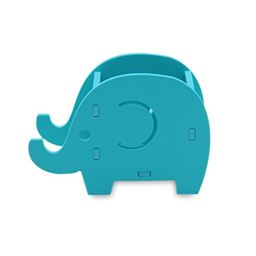Cell Phone Stand Elephant Pencil Holder Cute Wood Pen Holder Bracket Home Decoration Stationery Organizer with Desk -