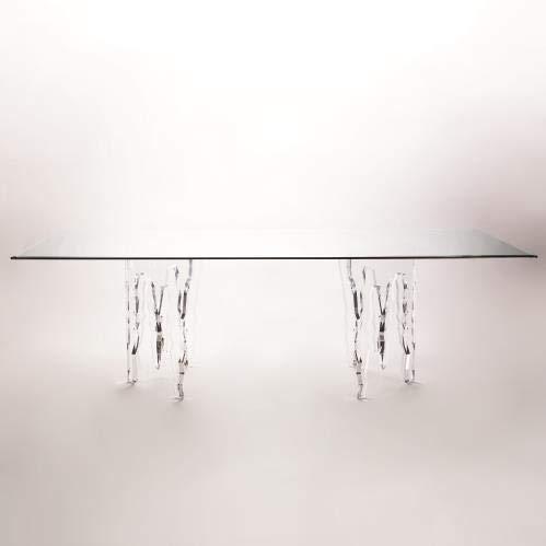 Amazon com - Modern Clear Acrylic Icicle Ice Dining Table