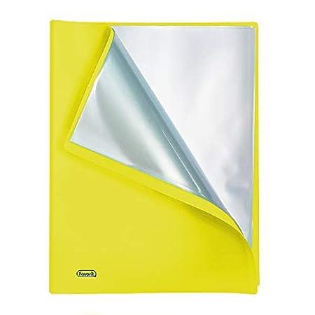 Favorit 400102296 Portalistino Neon con 40 Buste Formato Interno 22X30 cm Verde Fluo