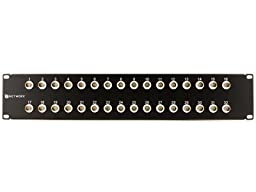 32 Port Fully Loaded Isolated BNC Coaxial Patch Panel - 2U