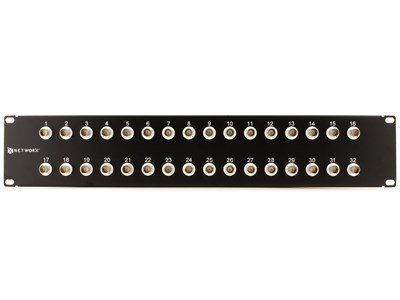 Bnc Patch Panel (32 Port Fully Loaded Isolated BNC Coaxial Patch Panel - 2U)
