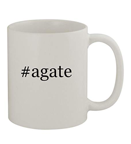 #agate - 11oz Sturdy Hashtag Ceramic Coffee Cup Mug, White