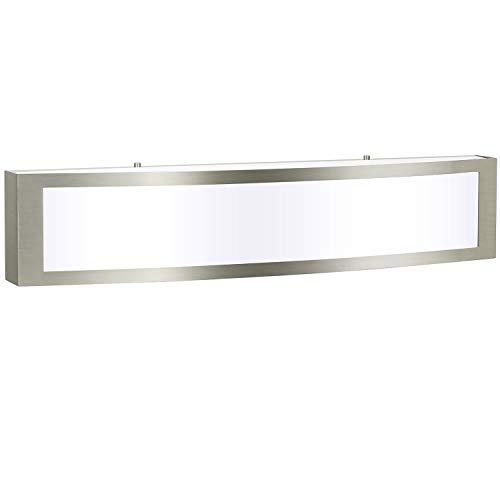 Brushed Nickel Modern LED Vanity Light, Bathroom Light Fixtures, Integrated LED Bath Wall Lighting, Bathroom Vanity…