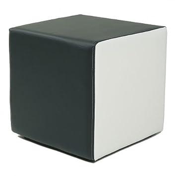 Hocker modern schwarz  Design Sitzwürfel Kubus I Plus Kunstleder Hocker modern 45x45x45 cm ...