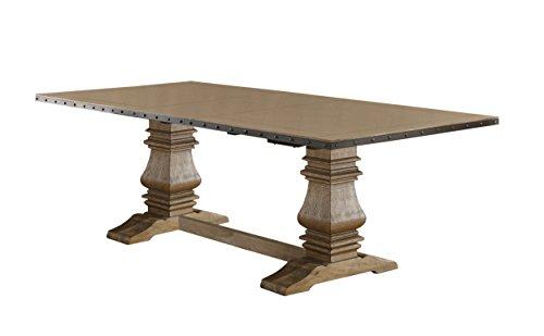 Homelegance Veltry Rectangular Double Pedestal Dining Table