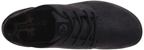 Merrell FREEWHEEL LACE J41387 - Zapatillas de deporte de cuero para hombre Black/black