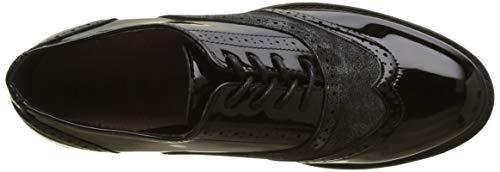 Mujer Dafne Cordones para Noir Noir de The Divine Derby 001 Zapatos Factory EOHH8q
