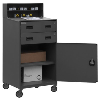 Durham 16 Gauge Steel Mobile Shop Desk, FED-2023-95, 500 lbs Capacity, 20″ Length x 23″ Width x 51″ Height