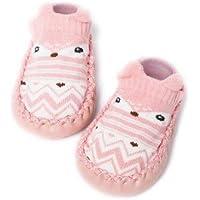 Bold N Elegant Baby Girl Boy Socks with Rubber Sole Infant Newborn Kids Floor Socks Shoes Anti Slip Soft Sole Socks Bootie