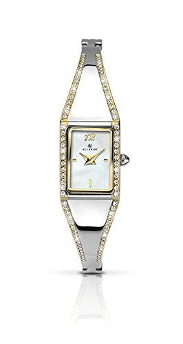 Accurist Women's Quartz Watch with Mother of Pearl Dial Analogue Display and Silver Bracelet 8023