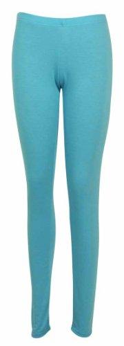 nuovo unita elasticizzato Skinny Turquoise da tinta vita lunghezza Leggings pantaloni elasticizzata donna Da donna Full qAxwxF