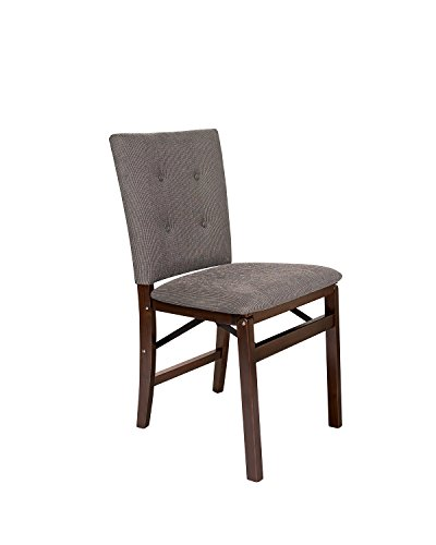 Parsons Chair Wood Finish Chair - Stakmore Parson's Folding Chair Finish, Set of 2, Espresso