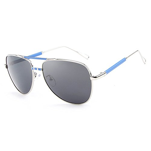 la Sol Marca clásica Viaje de Gafas Vendimia Hombres Gafas de de UV Gafas Gafas la Gafas Sol Gafas polarizadas Black Diseñador piloto de JCH blue de de Masculinas de Sol De 8HE1zww