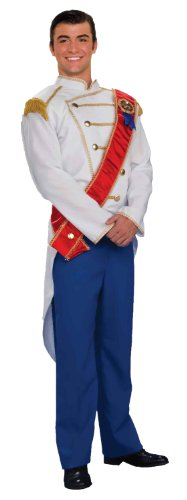 Forum Fairy Tales Fashions Prince Charming Costume, White/Blue, Standard