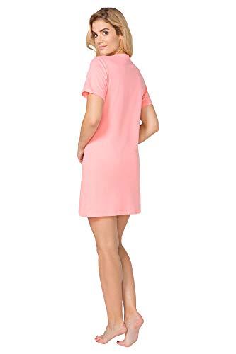 Rosa di pigiama da Donna Shortsleeve notte BeComfy Amber Camicia cottone pZ7Pqp8n