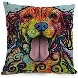 pillow cases of Dog Abstract Art,for adults,relatives,dinning room,car,family,seat