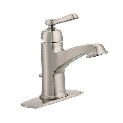 Moen WS84805SRN One-Handle High Arc Bathroom Faucet, Spot Resist Brushed Nickel