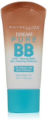 Maybelline New York Dream Pure BB Cream Skin Clearing Perfector, Deep, 1 Fluid Ounce (Packaging may vary)