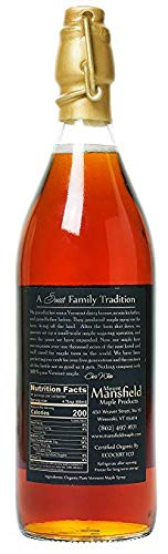 Organic Pure Vermont Maple Syrup In Old-Fashioned One Liter by Mount Mansfield Maple Products (Image #2)