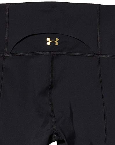 Under Armour Women's Breathelux Leggings, Black/Metallic Gold, Small Tall