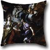 Cushion Cases Of Oil Painting Francesco Solimena - The Royal Hunt Of Dido And Aeneas,for Deck Chair,dinning Room,monther,sofa,car,couch 18 X 18 Inches / 45 By 45 Cm(both Sides)