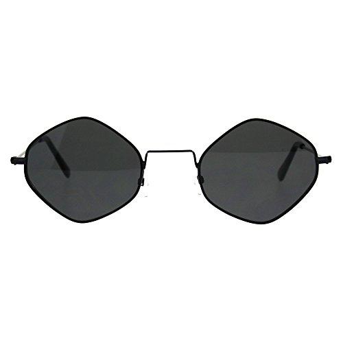 Vintage Style Diamond Shape Pimp Daddy Hippie Sunglasses All - Diamond Black Sunglasses