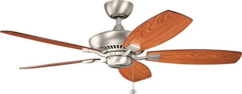 Kichler 300117NI 52-Inch Canfield Fan, Brushed Nickel For Sale