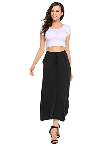 Basic Solid Lightweight Floor Length Maxi Skirt (Basic B Costume)
