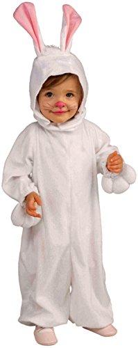 Forum Novelties Kids Fleece Bunny Rabbit Costume, Toddler, One Color (Bunny Costume Girls)