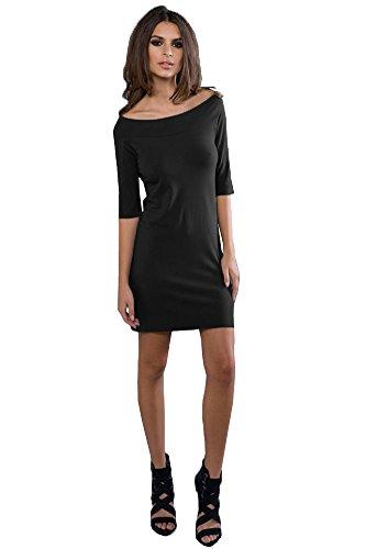 3 4 sleeve boatneck dress - 3