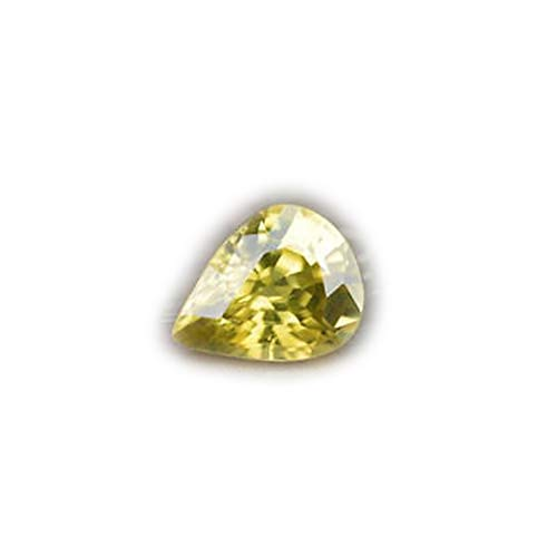 Lovemom 2.06ct Flawless Natural Pear Yellow Zircon Cambodia #AB