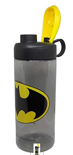 Zak Designs Batman 16.5oz Sullivan Bottle Clear Charcoal Black/Yellow Logo Water Bottle