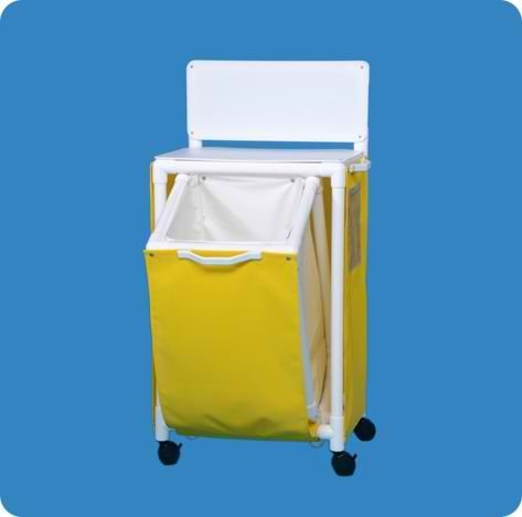 Isolation Station with Clean Gown Hamper - ISOST41WM - White Mesh Cover