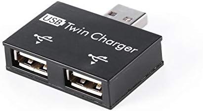 Adaptador USB 2.0, Everpert USB 2.0 Macho a Doble Hembra Cargador 2 Puertos, USB DC 5V Cargador Splitter Hub Adaptador Convertidor Conector