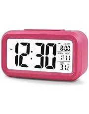 ساعة للمكتب بلاستيك مع منبه ، رقمي - بطارية AAA