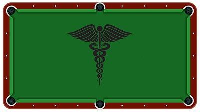 Caduceus Medical Symbol Billiard Cloth Pool Table Felt