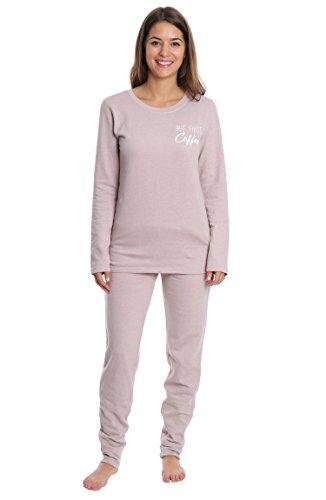 Wallflower Women's Sleepwear Set - Banded Jogger & Lounge Top - Pale Mauve, (Animals Womens Sweatpants)