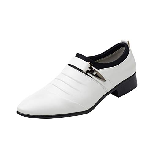 Mocassini Uomo da Shoes Business Classiche Monaco Low Scarpe Top New Punch Casual ONS da Scarpe Flats Uomo Bianca Scarpe a Slip Punta 6qXw68E