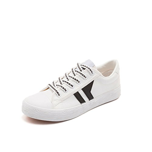 Lady Korean Version Der Kleinen Weißen Schuhe,Vielseitige canvas-Schuhe,Student Girl Schuhe,Stoffschuhen,Weiße Schuhe Mit Flachem Boden A