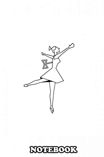 Notebook: A Minimalistic Ballerina Lineart , Journal for Writing, College Ruled Size 6