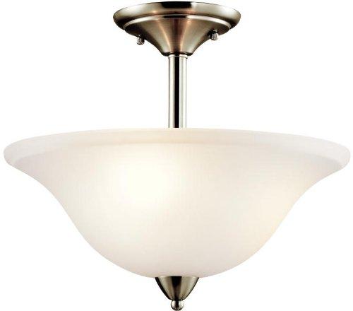 Kichler 42879NI Nicholson Semi-Flush 3-Light, Brushed Nickel