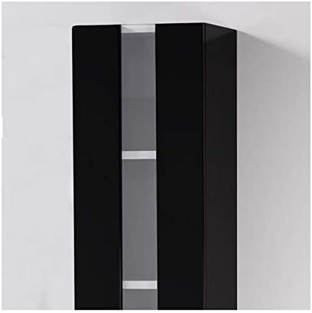 Noir Brillant LOUNGITUDE Colonne de Salle de Bain ALBAN L 25 cm