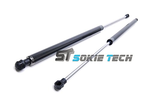 Sokietech Carbon Fiber Shock Spring Strut Rod Prop Lift Support Gas Hood Damper Kit for 2008~2016 Nissan GT-R R35