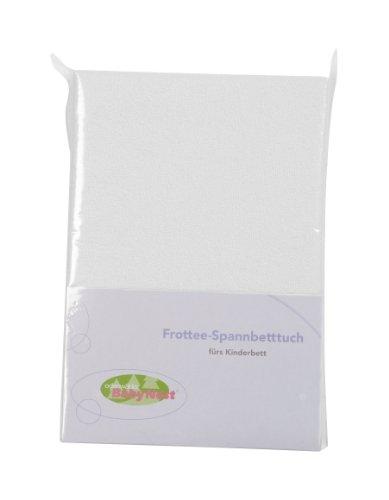 Odenwälder Frottee-Spannbetttuch 70 x 140, Design:weiß