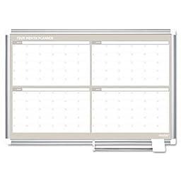 Mastervision - 4 Month Planner 36X24 Aluminum Frame \