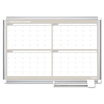 Mastervision - 4 Month Planner 36X24 Aluminum Frame ''Product Category: Presentation/Display & Scheduling Boards/Planning Boards/Schedulers'' by Original Equipment Manufacture